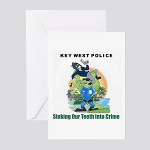 KEY WEST POLICE Greeting Cards (Pk of 10)