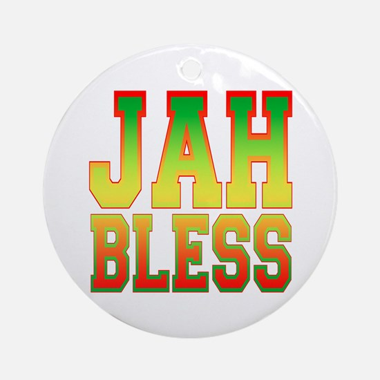 Jah Bless Ornament (Round)