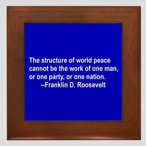 FDR on Peace Framed Tile