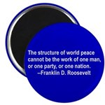 FDR on Peace Magnet