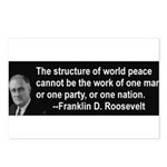 FDR on Peace Postcards (Package of 8)