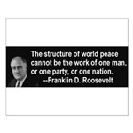 FDR on Peace Small Poster