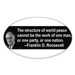 FDR on Peace Oval Sticker