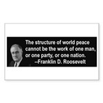 FDR on Peace Rectangle Sticker