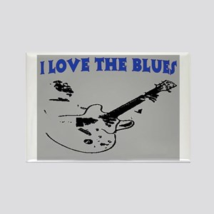 I LOVE THE BLUES Rectangle Magnet