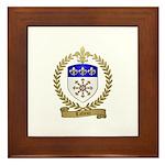 LAFLEUR Family Crest Framed Tile