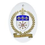LAFLEUR Family Crest Oval Ornament