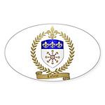 LAFLEUR Family Crest Oval Sticker