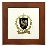 POULIN Family Crest Framed Tile