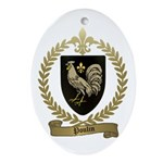 POULIN Family Crest Oval Ornament