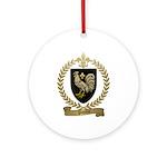 POULIN Family Crest Ornament (Round)