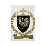 POULIN Family Crest Rectangle Magnet (100 pack)