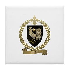 POULIN Family Crest Tile Coaster