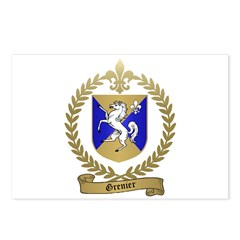 GRENIER Family Crest Postcards (Package of 8)