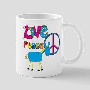 Love Peace Horses Mug
