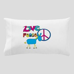 Love Peace Horses Pillow Case
