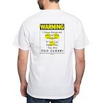Radiation Warning White T-Shirt (r)