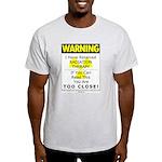 Radiation Warning Ash Grey T-Shirt