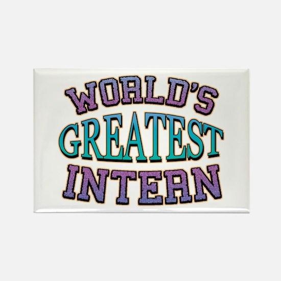 World's Greatest Intern Rectangle Magnet