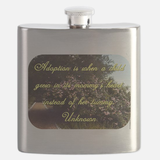 Adoption Is When A Child - Unknown Flask