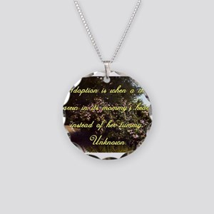 Adoption Is When A Child - Unknown Necklace Circle