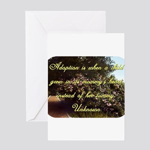 Child adoption greeting cards cafepress adoption is when a child unknown greeting card m4hsunfo