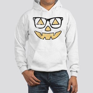 Vintage Jack-O-Lantern With Glasses Halloween Hood