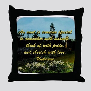 An Aunt Is Someone Special - Unknown Throw Pillow