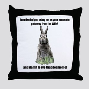 I am tierd of you  Throw Pillow