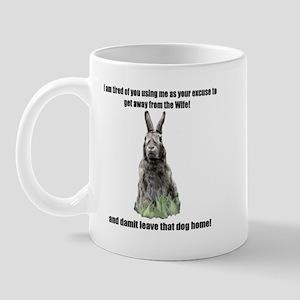 I am tierd of you  Mug