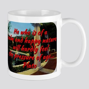 He Who Is Of A Calm And Happy Nature - Plato 11 oz