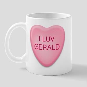 I Luv GERALD Candy Heart Mug