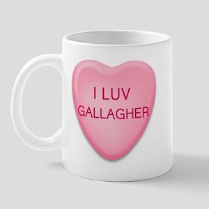 I Luv GALLAGHER Candy Heart Mug