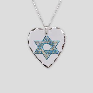 Gems and Sparkles Hanukkah Necklace Heart Charm