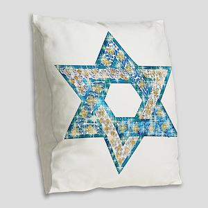 Gems and Sparkles Hanukkah Burlap Throw Pillow