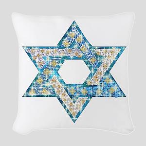 Gems and Sparkles Hanukkah Woven Throw Pillow