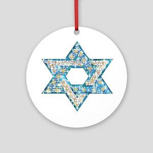 Gems and Sparkles Hanukkah Ornament (Round)