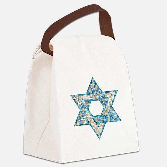 Gems and Sparkles Hanukkah Canvas Lunch Bag