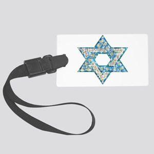 Gems and Sparkles Hanukkah Large Luggage Tag