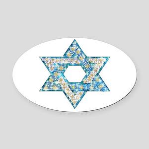 Gems and Sparkles Hanukkah Oval Car Magnet