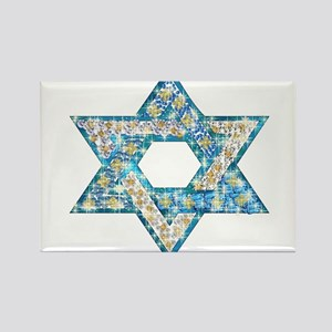 Gems and Sparkles Hanukkah Rectangle Magnet