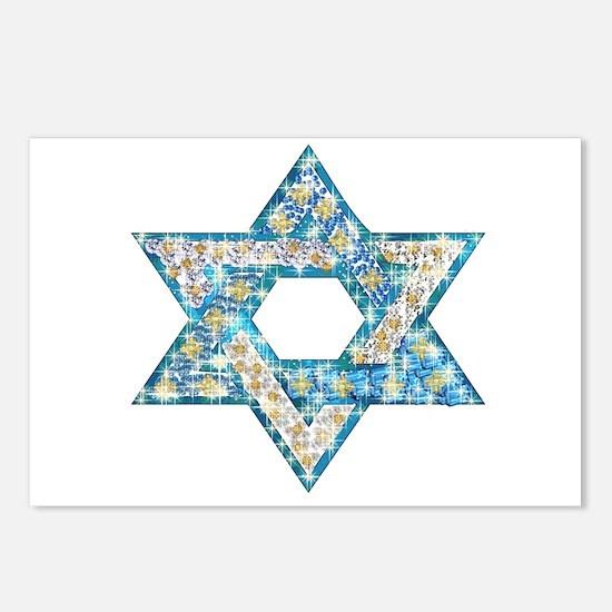 Gems and Sparkles Hanukkah Postcards (Package of 8