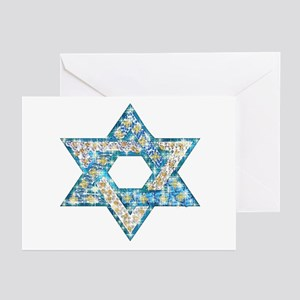 Hanukkah greeting cards cafepress gems and sparkles hanukkah greeting cards pk of 1 m4hsunfo