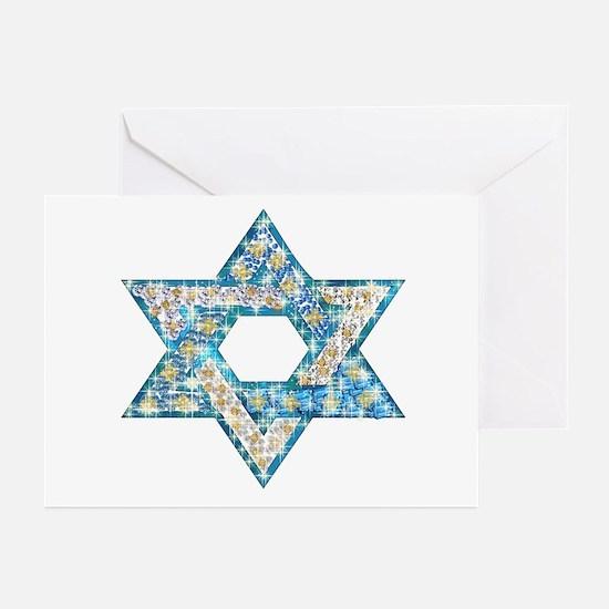Gems and Sparkles Hanukkah Greeting Cards (Pk of 2