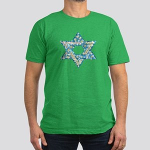 Gems and Sparkles Hanukkah Men's Fitted T-Shirt (d