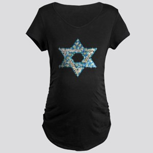Gems and Sparkles Hanukkah Maternity Dark T-Shirt