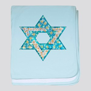 Gems and Sparkles Hanukkah baby blanket