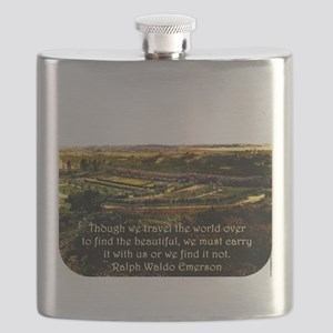 Though We Travel The World Over - Emerson Flask