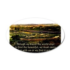 Though We Travel The World Over - Emerson Wall Decal