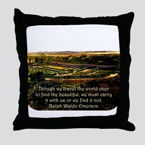 Though We Travel The World Over - Emerson Throw Pi